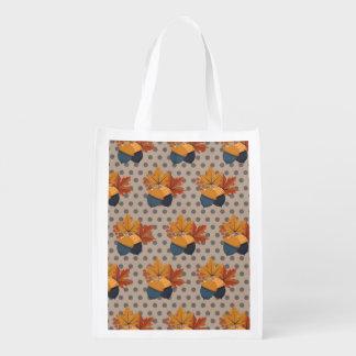 Cute Autumn Acorn Patterns Grocery Bag