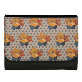 Cute Autumn Acorn Patterns Wallet For Women
