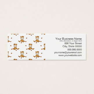 Cute Autumn Babies in Falling Leaves Pattern Mini Business Card