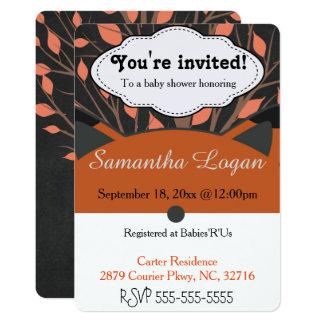 Cute Autumn Fox Baby Shower Invitation
