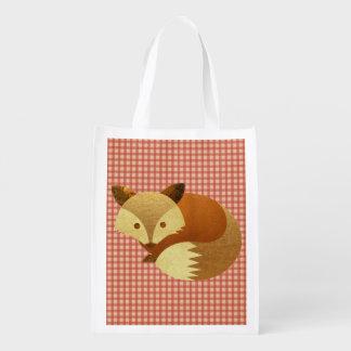 Cute Autumn Fox Grocery Bags