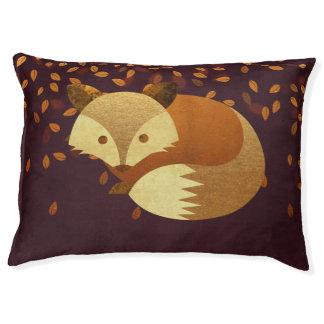 Cute Autumn Fox Large Dog Bed