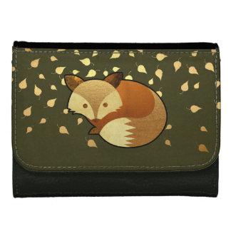 Cute Autumn Fox Leather Wallet
