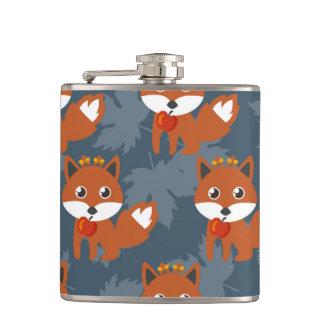 Cute Autumn Fox Pattern Flasks
