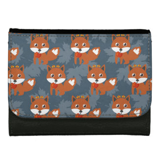 Cute Autumn Fox Pattern Leather Wallets