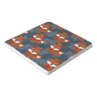 Cute Autumn Fox Pattern Trivet