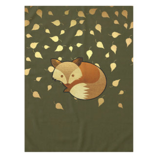 Cute Autumn Fox Tablecloth
