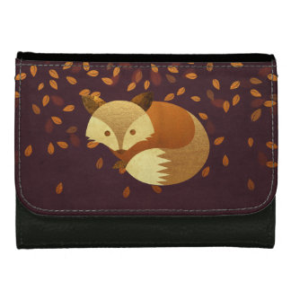Cute Autumn Fox Wallet For Women