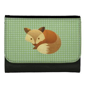 Cute Autumn Fox Wallets For Women