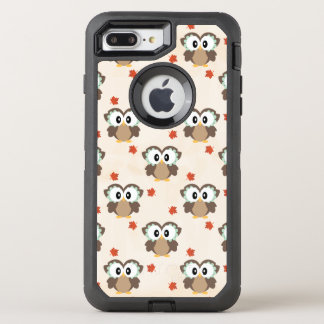Cute Autumn Owl OtterBox Defender iPhone 7 Plus Case