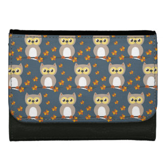 Cute Autumn Owl Pattern Women's Wallets