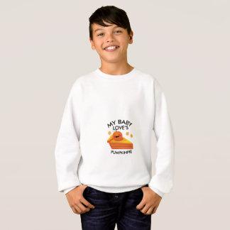 Cute Autumn Pregnancy My Baby Loves Pumpkin Pie Sweatshirt