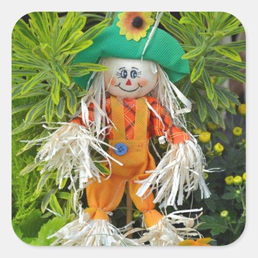 Cute autumn scarecrow decoration stickers
