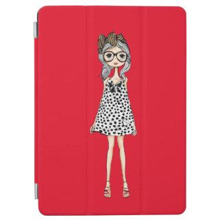 Cute Awkward Girl in Her Polka Dot Dress iPad Air Cover