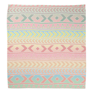 Cute Aztec Influenced Pattern In Pastel Colors Do-rag