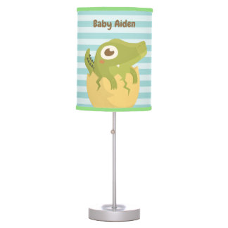 Cute Baby Alligator Egg Nursery Room Table Lamp