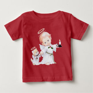Cute Baby Angel And Cat Baby T-Shirt