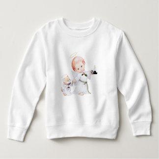 Cute Baby Angel And Cat Sweatshirt