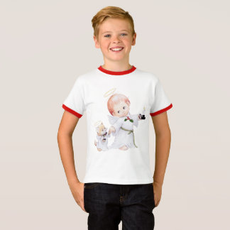 Cute Baby Angel And Cat T-Shirt