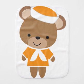 Cute Baby Animal Sailor Bear Burp Cloth