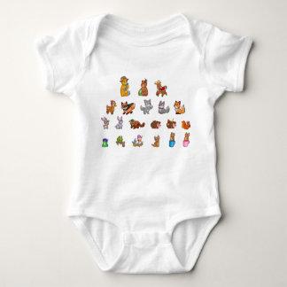 Cute Baby Animals Baby Jersey Bodysuit