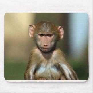 Cute Baby Baboon Mousemat / Mousepad