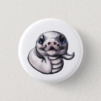 Cute Baby Ball Python Button (Leucistic)