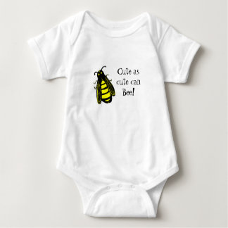 Cute Baby Bee Honeybee with Fun Text Baby Bodysuit