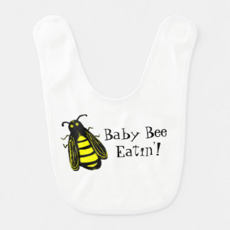 Cute Baby Bee Honeybee with Fun Text Bib