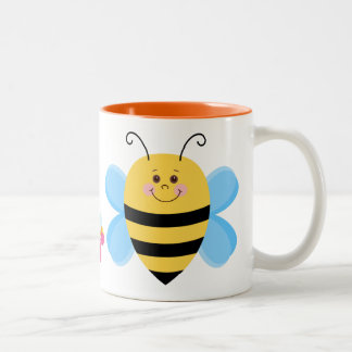 Cute Baby Bee Two-Tone Coffee Mug