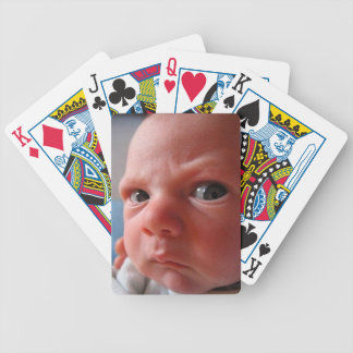 Cute baby bicycle playing cards