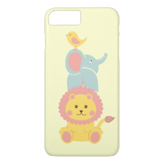 Cute Baby Bird Elephant Lion Cartoon Animals iPhone 7 Plus Case