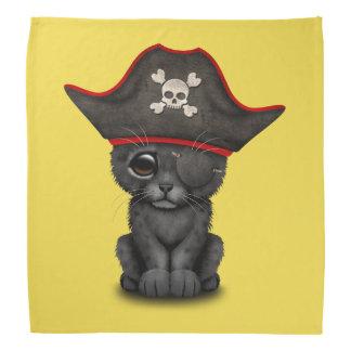 Cute Baby Black Panther Cub Pirate Bandana