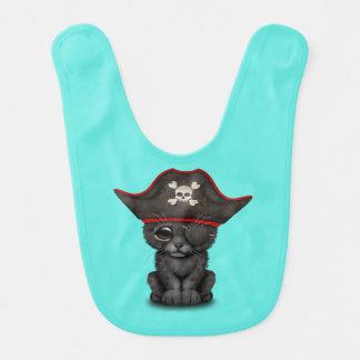 Cute Baby Black Panther Cub Pirate Bib