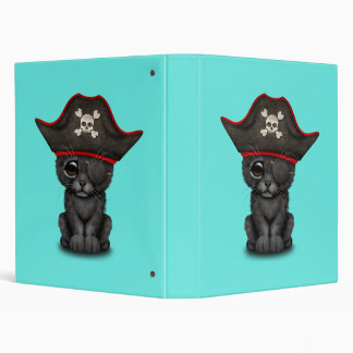 Cute Baby Black Panther Cub Pirate Binder
