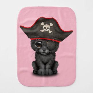 Cute Baby Black Panther Cub Pirate Burp Cloth