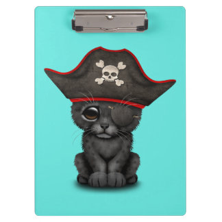 Cute Baby Black Panther Cub Pirate Clipboard