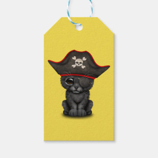 Cute Baby Black Panther Cub Pirate Gift Tags