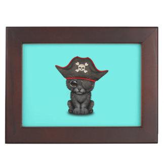 Cute Baby Black Panther Cub Pirate Keepsake Box