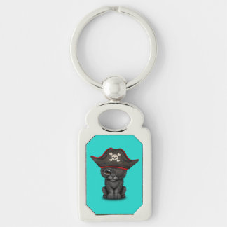 Cute Baby Black Panther Cub Pirate Keychain
