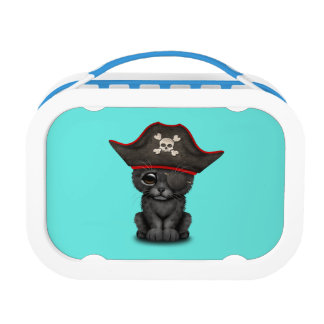 Cute Baby Black Panther Cub Pirate Lunch Boxes