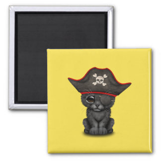 Cute Baby Black Panther Cub Pirate Magnet