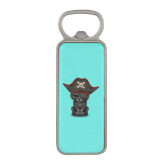 Cute Baby Black Panther Cub Pirate Magnetic Bottle Opener