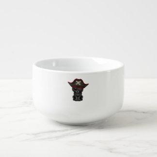 Cute Baby Black Panther Cub Pirate Soup Mug