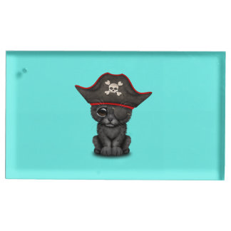 Cute Baby Black Panther Cub Pirate Table Card Holders