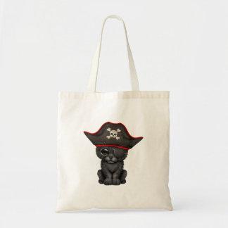 Cute Baby Black Panther Cub Pirate Tote Bag