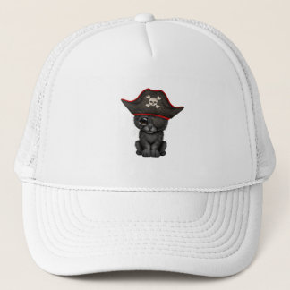 Cute Baby Black Panther Cub Pirate Trucker Hat