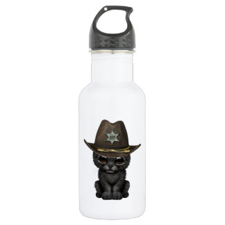 Cute Baby Black Panther Cub Sheriff 532 Ml Water Bottle
