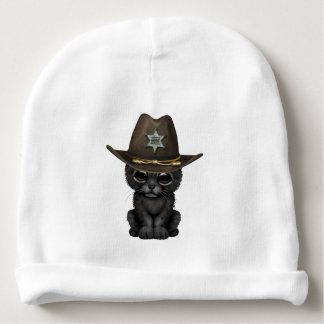 Cute Baby Black Panther Cub Sheriff Baby Beanie