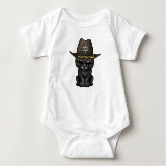 Cute Baby Black Panther Cub Sheriff Baby Bodysuit